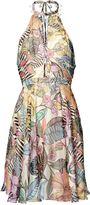 Matthew Williamson Pink Kantuta Valley Silk Halter Dress