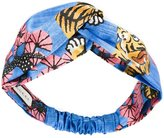 Gucci tiger print headband - women - Silk - One Size