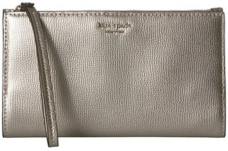 Kate Spade Sylvia Large Continental Wristlet (Pale Gold) Clutch Handbags