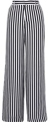 RtA Jupiter Striped Washed-silk Wide-leg Pants