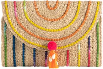 Shiraleah Women's Clutches MULTI - Pink & Yellow Tassel Aria Clutch