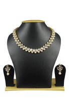 Exclusive Jewellery Indian Party Wear Gold Plated Pearl Kundan Beautiful Bollywood Necklace Set