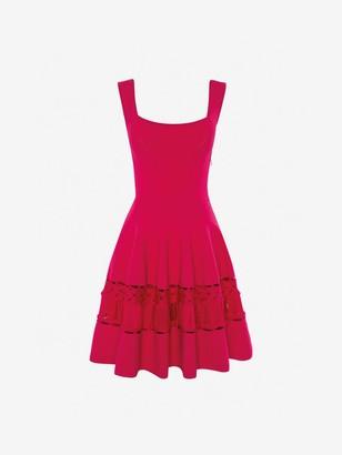 Alexander McQueen Engineered ribbed Knit Dress