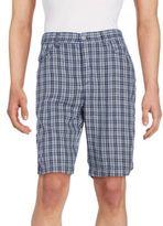 CK Calvin Klein Plaid Cotton Shorts
