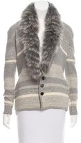 Timo Weiland Fur-Trimmed Wool Cardigan