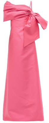 Carolina Herrera One-shoulder Gathered Mikado Dress - Pink