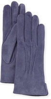Portolano Cashmere-Lined Suede Gloves, Avion
