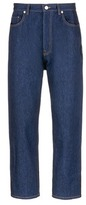 Christopher Kane 'Law and Order' patch drop crotch jeans