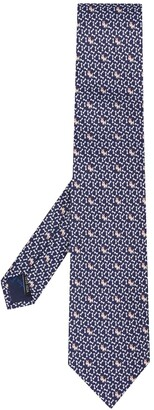 Salvatore Ferragamo Dog And Bone Print Necktie