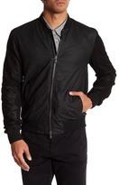 John Varvatos Leather Trim Bomber Jacket