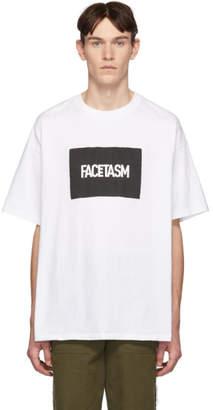 Facetasm Vier White Edition Box Logo T-Shirt