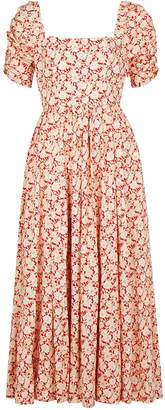 Free People She's A Dream Floral-print Cotton Midi Dress