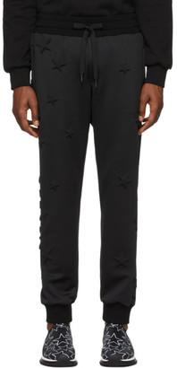 Dolce & Gabbana Black Bonded Millennial Star Sweatpants