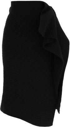 Sacai Asymmetric Knitted Skirt