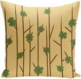 E By Design Branches Flowers Bamboo Floral Polyester Outdoor Pillow