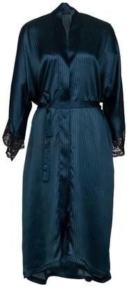Anekdot Barred Silk Robe