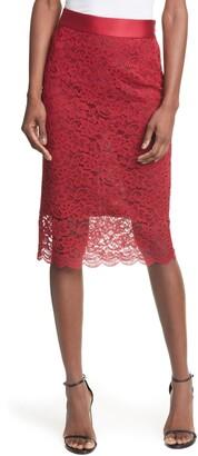 Smythe Lace Pencil Skirt