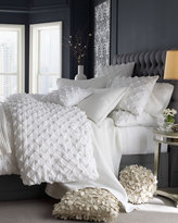 Horchow King Puckered Diamond Duvet Cover