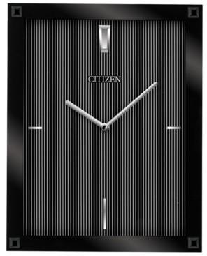 Citizen Gallery Black Glass Rectangular Wall Clock