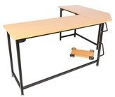 "Wilkinsburg L-Shape Desk Ebern Designs Color: Natural, Size: 28.35"" H x 47.24"" W x 66.14"" D"