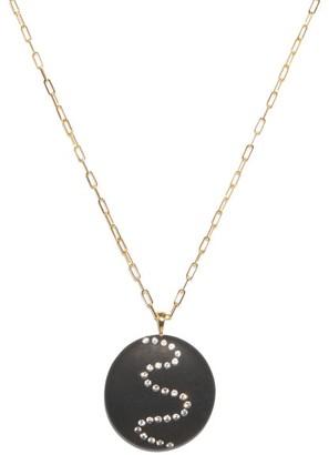 Cvc Stones Spiral Diamond & 18kt Gold Necklace - Black