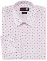 Jf J.Ferrar Easy-Care Solid Long Sleeve Broadcloth Geometric Dress Shirt - Slim