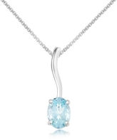 Tagliamonte Incanto Royale Aquamarine 18K Gold Pendant Necklace