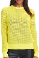 Lauren Ralph Lauren Open-Knit Shoulder-Zip Sweater