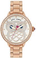 Betsey Johnson Glitter Owl Bracelet Watch