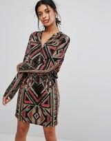 Vero Moda Printed V Neck Dress