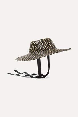 Gigi Burris Millinery Aloha Cotton-trimmed Straw Hat - Black