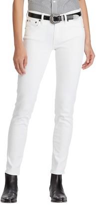Ralph Lauren Polo Tompkins Skinny Jeans, White
