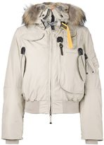 Parajumpers raccoon and rabbit fur trim puffer jacket