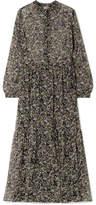 Paul & Joe Horys Floral-print Silk-crepon Maxi Dress - Black