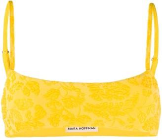 Mara Hoffman Floral Embroidered Slip-On Bikini Top