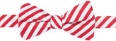 Countess Mara Men's Red & White Stripe Pre-Tied Bow Tie