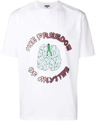 Lanvin slogan print T-shirt