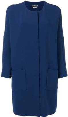 Moschino loose-fit two-pocket coat