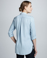 Bella Dahl Soft Chambray Button-Down Top, Sunbleach Wash (Stylist Pick!)