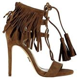 Windsor Smith Womens Suede Cowboy Sandals Tassels Casual Heeled Shoes Strap