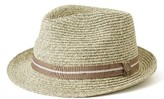 Men's Goorin Brothers Keep It Real Straw Trilby - Grey