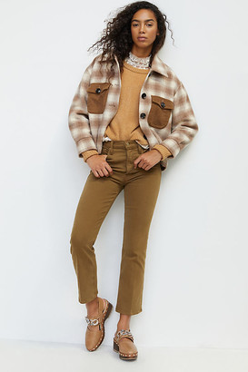 Mother The Tripper Ultra High-Rise Ankle Flare Jeans By in Brown Size 32