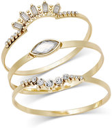 INC International Concepts 3-Pc. Set Crystal Bangle Bracelets, Only at Macy's
