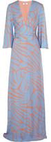 Issa Francesca Printed Silk-Georgette Maxi Dress