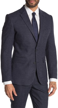 Moss Bros Medium Blue Check Two Button Notch Lapel Tailored Fit Suit Separates Jacket
