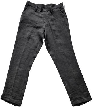 Yohji Yamamoto Black Linen Trousers