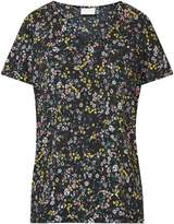 Vila **Vila Black V-Neck Floral Blouse
