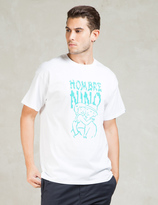 HOMBRE Nino White S/S Parent and Child Print T-Shirt