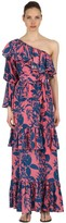Borgo de Nor Marquesa Ruffled Silk Crepe Maxi Dress