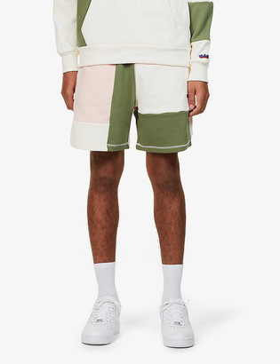 Russell Athletic Contrast-panel relaxed-fit organic-cotton shorts